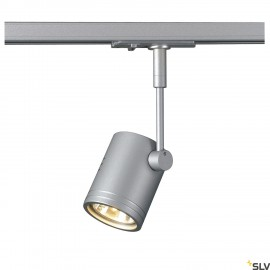 SLV 143442 BIMA I lamp head, silver-grey,GU10, max. 50W, incl. 1-circuit adapter
