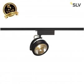 SLV 143460 KALU TRACK QRB111 SPOT, black,max. 50W, incl. 1-circuitadapter