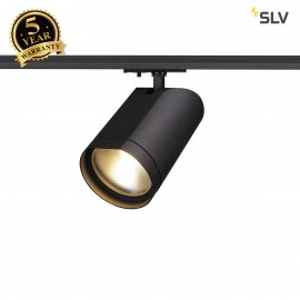 SLV 143560 BILAS LED Spot, round, mattblack, 15W, 60°, 2700K, incl.1-circuit adapter