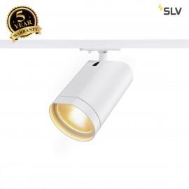 SLV BILAS LED Spot, round, matt white, 16W, 60°, 2700K, incl. 1-circuit adapter 143561