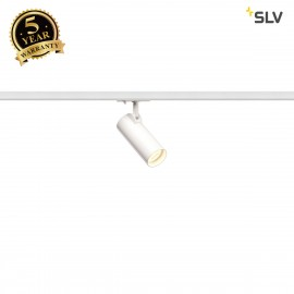 SLV 143581 HELIA 50 LED Spot for 1Phase High-voltage Tracksystem, 3000K, white, 35°, incl. 1 Phase adapter