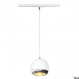SLV 143621 LIGHT EYE ES111 pendant,white/chrome, GU10, max. 75W,incl. 1-circuit adapter