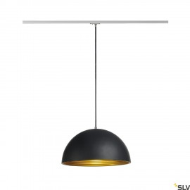 SLV 143930 FORCHINI M pendant, 40cm,round, black/gold, E27, incl.silver 1-circuit adapter