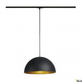 SLV 143932 FORCHINI M pendant, 40cm,round, black/gold, E27, incl.black 1-circuit adapter