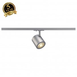 SLV 143944 ENOLA_C SPOT, round,silver-grey, 9W LED, 3000K,35° , incl. 1-circuit adapter