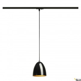 SLV 143990 PARA CONE 14 pendant, round,black/gold, GU10, incl. black1-circuit adapter