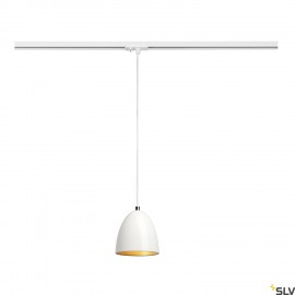 SLV 143991 PARA CONE 14 pendant, round,white/gold, GU10, incl. white1-circuit adapter