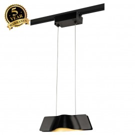 SLV 144000 WAVE PENDANT, black, 9W LED,3000K, incl. 1-circuit adapter