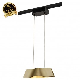 SLV 144003 WAVE PENDANT, brass, 9W LED,3000K, incl. 1-circuit adapter