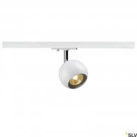 SLV 144011 LIGHT EYE 1 GU10 SPOT,white/chrome, GU10, max. 50W,incl. 1-circuit adapter
