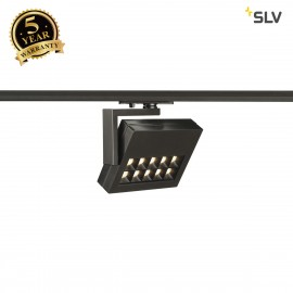 SLV 144060 PROFUNO LED Spot, black, 3000K, 60°, incl. 1-circuit adapter