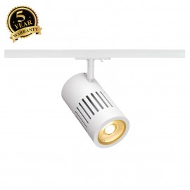 SLV 144101 STRUCTEC LED 24W, round, white, 3000K, 36°, incl. 1-phaseadapter