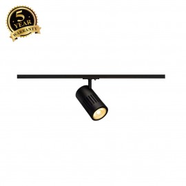 SLV 144110 STRUCTEC LED 24W, round, black, 3000K, 60°, incl. 1-phaseadapter