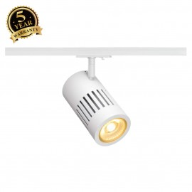 SLV 144111 STRUCTEC LED 24W, round, white, 3000K, 60°, incl. 1-phaseadapter