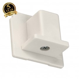 SLV 145591 EUTRAC end cap for 3-circuittrack, white