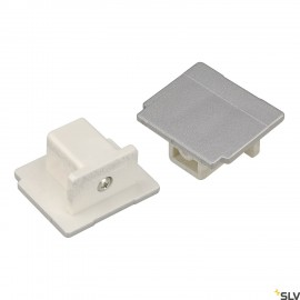 SLV 145594 EUTRAC end cap for 3-circuittrack, silver-grey