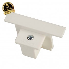SLV 145621 EUTRAC end cap for 3-circuitrecessed track, white
