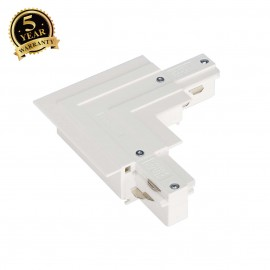 SLV 145761 EUTRAC L-connector for 3-circuit recessed track, white,outer earth