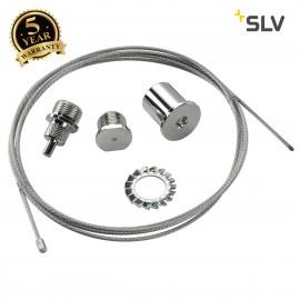 SLV 145810 EUTRAC rope suspension, chrome, 3m