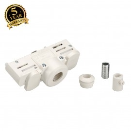 SLV 145991 EUTRAC 3-circuit track adapter, white, incl. mountingaccessory
