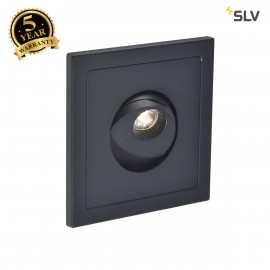 SLV 146210 PHO recessed wall light, mattblack, 1W LED, 3000K