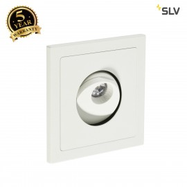 SLV 146211 PHO recessed wall light, mattwhite, 1W LED, 3000K