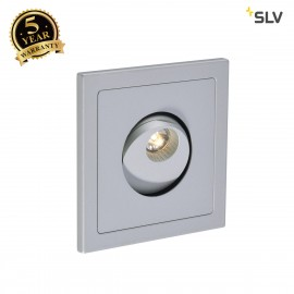 SLV 146214 PHO recessed wall light,silver-grey, 1W LED, 3000K