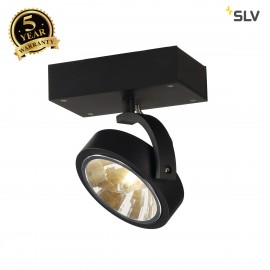 SLV 147250 KALU 1 wall and ceiling light,matt black, QRB111, max. 50W