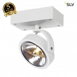 SLV 147251 KALU 1 wall and ceiling light,matt white, QRB111, max. 50W