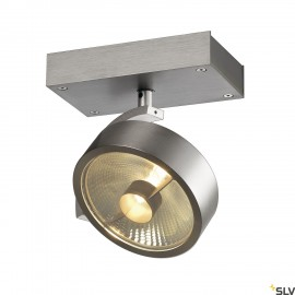 SLV 147306 KALU 1 QPAR ceiling light, alubrushed, ES111, max. 75W
