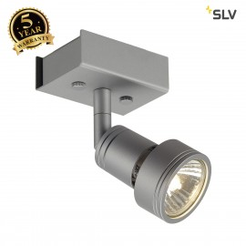 SLV 147364 PURI 1 ceiling light,silver-grey, GU10, max. 50W,incl. deco ring