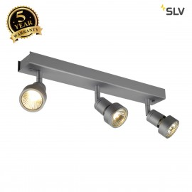 SLV 147384 PURI 3 ceiling light,silver-grey, 3x GU10, max. 3x50W, incl. deco ring