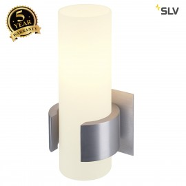 SLV 147519 DENA I wall light, alu brushed, glass partially frosted,E14, max. 40W