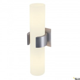 SLV 147529 DENA II wall light, alubrushed , glass partiallyfrosted, 2x E14, max. 2x 40W