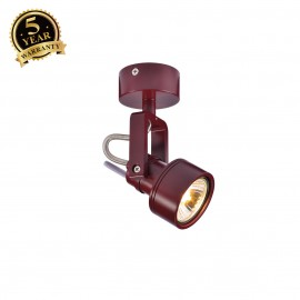 SLV 147556 INDA SPOT GU10 wall andceiling light, wine red, max.50W