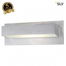 SLV 147566 TANI wall light, R7s, square,alu brushed, R7s 118mm, max.200W