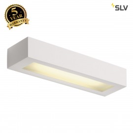 SLV 148011 Wall light, GL 103 T5, square,white plaster, T5 8W
