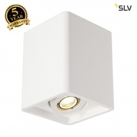 SLV 148051 PLASTRA BOX 1 ceiling light,square, white plaster, 1xGU10,max. 35W