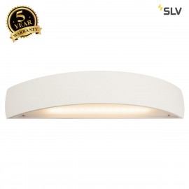 SLV 148062 PLASTRA, wall light, LED, 3000K, curved, up/down, white plaster, dimmable