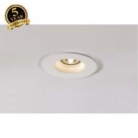SLV 148070 PLASTRA downlight, GU10, round, white plaster