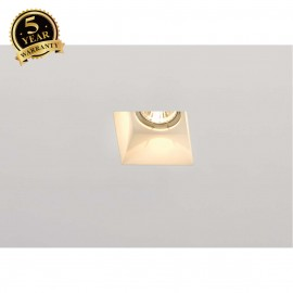 SLV 148071 PLASTRA downlight, GU10,square white plaster