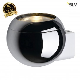 SLV 149031 LIGHT EYE BALL wall light,chrome/white, GU10, max. 75W