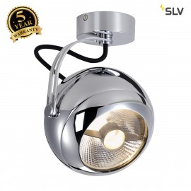 SLV 149042 LIGHT EYE wall and ceilinglight, chrome, GU10, max. 75W