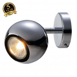 SLV 149062 LIGHT EYE 1 GU10 wall andceiling light, chrome, GU10,max. 50W