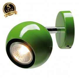 SLV 149065 LIGHT EYE 1 GU10 wall andceiling light, fern green,GU10, max. 50W