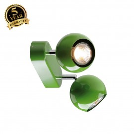 SLV 149075 LIGHT EYE 2 GU10 wall andceiling light, fern green,GU10, max. 2x50W
