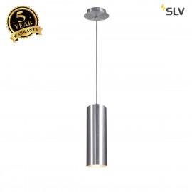 SLV 149385 ENOLA pendant, round, alubrushed, E27, max. 60W