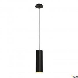 SLV 149388 ENOLA pendant, round, black,E27, max. 60W