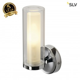 SLV 149482 Wall light, WL 105, chrome,double-glass, E14, max. 40W,IP44