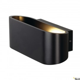 SLV 151450 OSSA R7s wall light, oval,matt black, R7s 78mm, max.100W, up/down